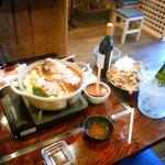 道 - 中国の新作試作鍋です。魚介類ベースに野菜と鶏肉が入っていてとても美味しかった。