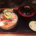 23520203 - 海鮮丼御膳(いくら無し) 1580円