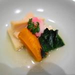 つる家 花陽 - 野菜の炊き合わせ 筍 かぼちゃ