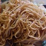 23521860 - 聚宝 @南林間 五目あんかけ焼きそばのよく炒められた細麺