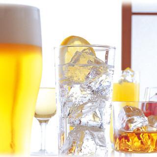生ビール付き120分飲み放題680円(税抜)
