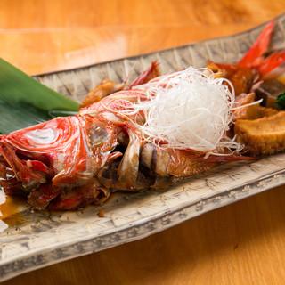 高級食材「きんめ鯛」/『きんめ鯛姿煮』など手頃な価格でご提供