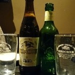 くいもの屋 わん - 至福のハートランド(630円)       、瓶ビール・中瓶(609円)