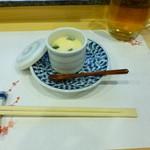 肴家 - 料理写真:2014.01 突き出しが茶わん蒸し、、、蒸し置きなのかな?