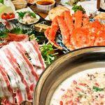 分福 - 薬膳豚肉のシャブシャブ鍋 蟹付きコース