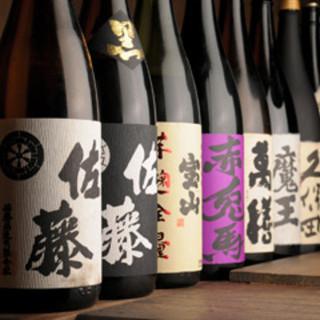 日本酒・焼酎・梅酒は80種類以上常備!