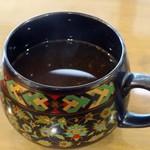 森のアトリエ - エビの出汁が効いたスープでした