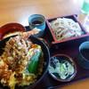 そば処 三彩 - 料理写真:天丼セット 1100円