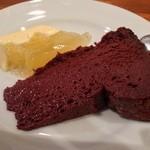 グーフォ - 【Bランチ】デザート。ガトーショコラと、柑橘のムース。