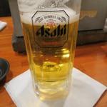 七輪焼肉 安安 - アサヒ生ビール(290円)