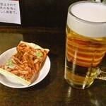 せんべろバー - わさび柿ピー100円と生ビール200円