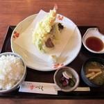 和食や 吉べえ - 天ぷら定食(ライス大盛)¥1080