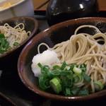 そば処 橋本 - ミニ玉子丼と生そばのセット 2014.1
