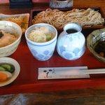 そば処 いち - お昼のそば膳(大盛蕎麦)1,150円