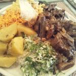 スリランカ料理 ラサハラ - モリモリ大盛りセイロンプレート(七草を使ったお正月バージョン)