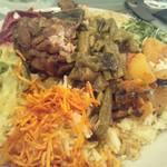 スリランカ料理 ラサハラ - バスマティ米バージョンのセイロンプレート