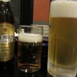 ちゃんこ料理霧島 - ノンアルコールと生ビール