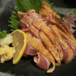 ちゃんこ料理霧島 - 地鶏刺身