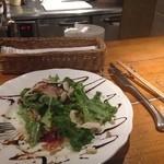 黒鉄 - サーモンとマシュルームのサラダ