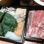 寿庵 - 塩しゃぶしゃぶのお肉とお野菜