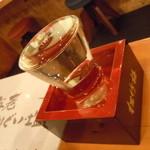 のぶちゃん お初天神店 - 日本酒♪表面張力超え♪