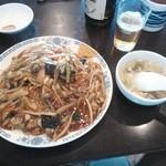 中国東北料理 四季菜館 - 豚肉細切り焼きそば