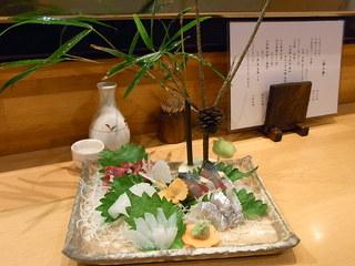 ひでとら - 造り盛り合わせ 立体的♪ ¥2000くらい?