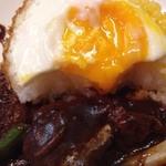 ロミー - 2014/1 ご飯の上の半熟玉子!ビーフシチュー定食