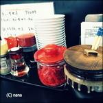 大竜軒 - 辛子高菜、紅しょうが、ごまアリ。