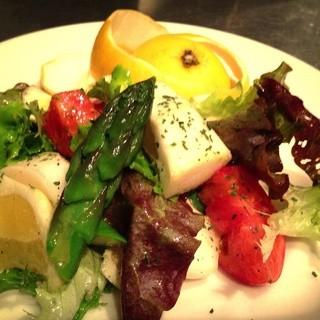 野菜、お肉、魚の素材にこだわりあり。