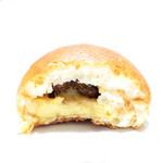ムーラタルト - いちぢくクリームパンの断面 '13 12月上旬