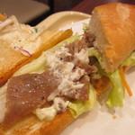 ドトールコーヒーショップ - ミラノサンド・ペッパービーフとチェダーチーズソース 390円