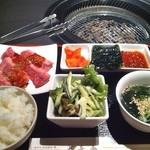 神戸牛・個室焼肉 大長今 - ハラミ定食 1050円