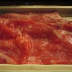 旬膳処 茶目 - みちのく奥羽牛の霜降具合