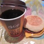 マクドナルド - 珈琲とソーセージマフィン