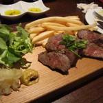 イタリアン&肉バル 北の国バル - 牛サーロイングリル@990円・100g