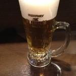立呑み厨房 いち - 2014.1.9 プレミアムモルツ・生ビール400円えべっさん価格(通常380円)