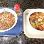 23554118 - 広東麺 700円 と サンマーメン 600円 【 2014年1月 】
