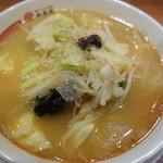 幸楽苑 - 味噌野菜らーめん(\514)!