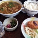 麺どころ いづみ - カレーうどん定食(880円)(2014.1)