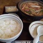 麺どころ いづみ - 味噌煮込みランチ(830円)(2014.1)