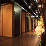 なごや香 - ずらりと並ぶ完全個室♪何名様でも個室で御案内致します。