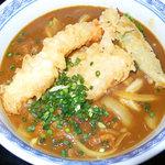手打ちうどん 鶴丸 - これが今回注文したカレー天(天ぷらカレーうどん)です。