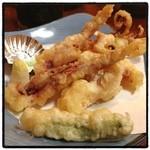 いろは寿司 - げそ天ぷら。 深夜の揚げ物…