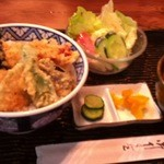 丸山うどん店 - 天丼定食¥730