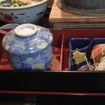 馳走家 とり壱 - 五目釜飯定食(五目釜飯、茶碗蒸し、うどん)