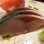 日本料理 太月 - 造り 千葉〆鯖 アップ