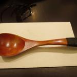 日本料理 太月 - お粥用スプーン