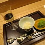 日本料理 太月 - デザート 3種 塗盆