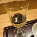 日本料理 太月 - デザート 黒蜜プリン